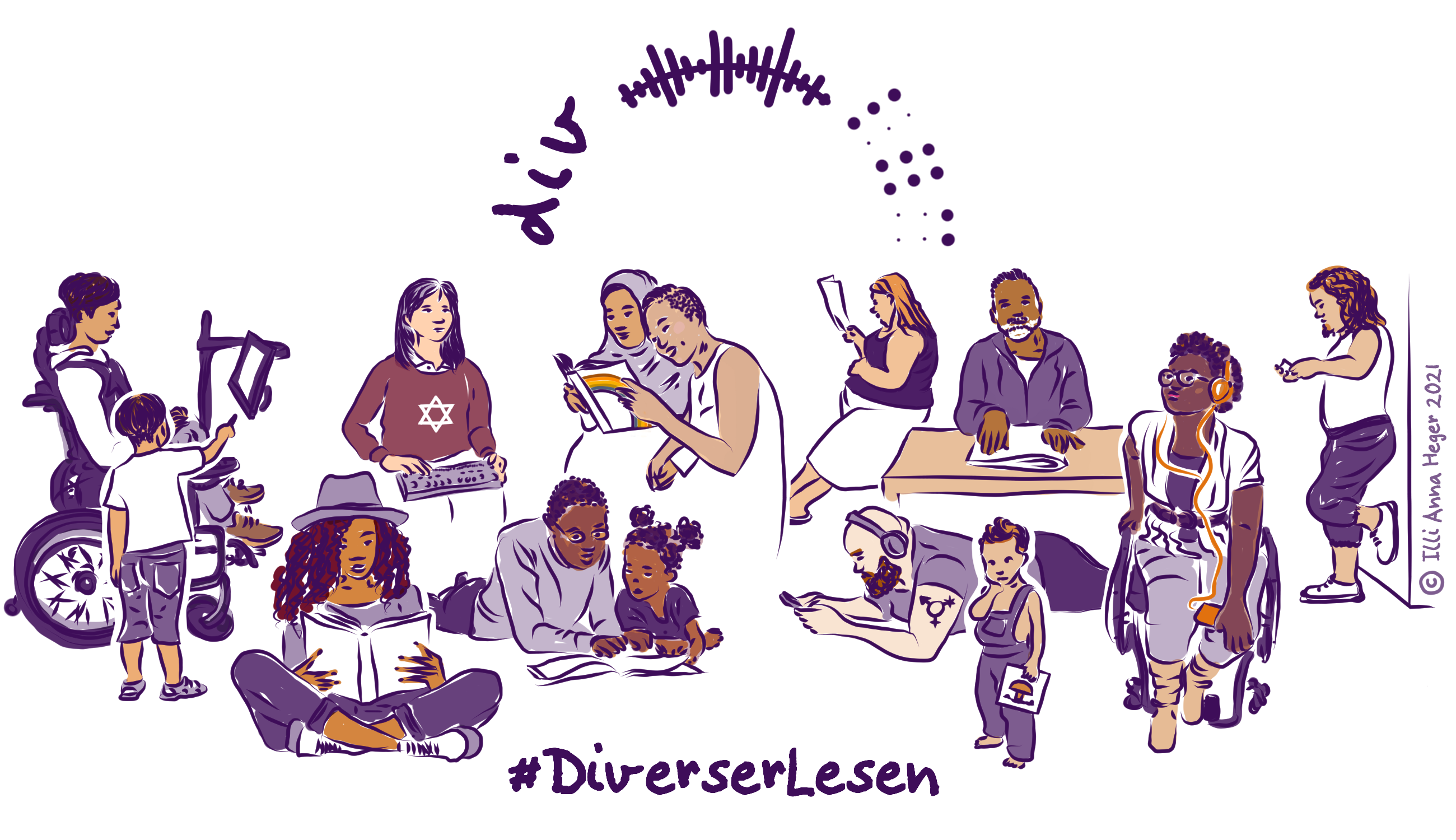 Das Logo der Aktion #DiverserLesen